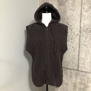 Just Cavalli Knitted Hoodie Chunky Vest